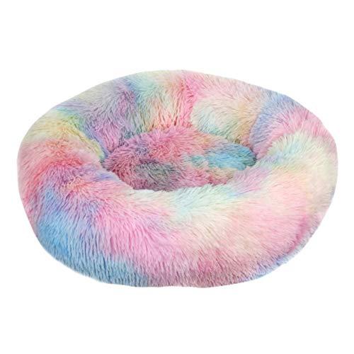 Cama de perro para mascotas cómoda Donut Cuddler redonda perrera ultra suave lavable perro y gato cojín cama invierno cálido