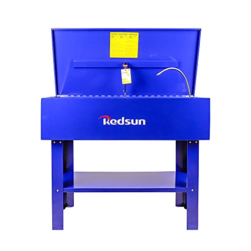 Redsun Parts Washer 40 Gallon Parts Cleaner Solvent Tank for Brake Pads and Car Parts (Blue)