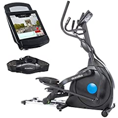 skandika elliptische crosstrainer CardioCross Carbon Champ, 23,5 kg vliegwielmassa, onderhoudsarm remsysteem via magnetische technologie, transportrollen, Bluetooth & tablethouder, pulsmeting, 19 programma's*