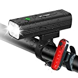 EBUYFIRE USB Rechargeable Bike Light Set, 1000 Lumen Super Bright LED Bicycle Front