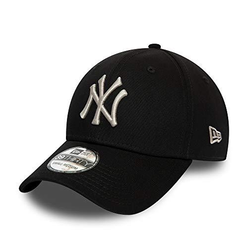 New Era New York Yankees MLB Cap 39thirty Basecap Ny Baseball Kappe Schwarz Grau - XS-S