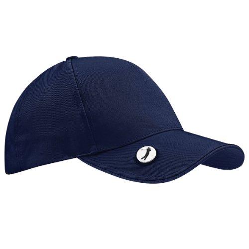 Beechfield - Casquette de Golf 100% coton - Adulte unisexe (Taille unique) (Bleu marine)