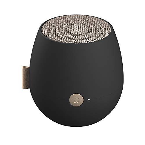 KREAFUNK aJAZZ Eleganter Edler Bluetooth Lautsprecher Dänischen Design TWS True Wireless Stereo (Black)