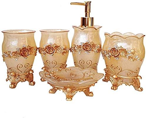 KMILE Herramientas de Lavado Biberón Bebé Enjuague bucal Jabón Jabón Soporte de Cepillo de Dientes Artículos para el hogar (Color : Gold, Size : Free)