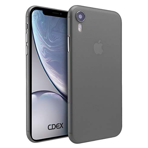 doupi UltraSlim Hülle für iPhone Xr (iPhone 10r) 6,1 Zoll, Ultra Dünn Fein Matt Handyhülle Cover Bumper Schutz Schale Hard Case Taschenschutz Design Schutzhülle, schwarz
