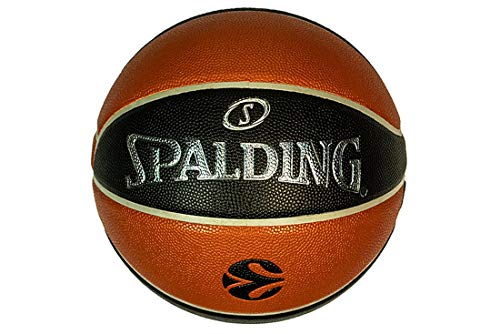 Spalding Euroleague TF-500 In/out Ball 84002Z 84002Z_7 - Balón de Baloncesto Unisex, Color Naranja, 7 EU