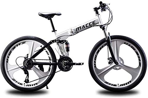 Mountainbike 26 Zoll Faltrad Mountainbike Profi 21-Gang Carbon Stahlrahmen Stoßdämpfung Sicherheitsbremssystem 3