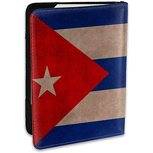Kubanische Flagge personalisierte Mode Leder reisebrieftasche reisebrieftasche