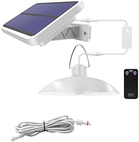 DC Wesley Colgante De Araña Solar con Control Remoto, Luz Solar LED Araña Solar para Exteriores/De Interior, Terraza para Acampar Jardín Tienda De La Casa Luz De Emergencia (Color : White)