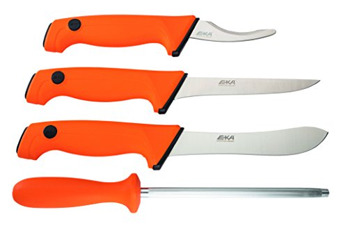 EKA Butcher Set Orange Skinner Gut Hook Boning Sharpener