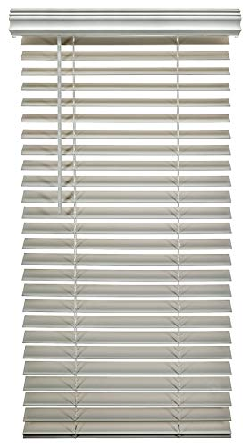 A Better Blind - Premium 2 Inch Cordless Fauxwood Horizontal Window Blinds - Smooth Snow White Color - 24 x 53