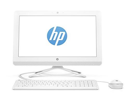 "HP 20-c400ns - All in One - Ordenador de sobremesa 19.5"" FullHD (AMD E2-9000 , 4GB RAM, 1TB HDD, AMD Radeon R2, Windows 10), Color Blanco, con Teclado QWERTY Español y Ratón"