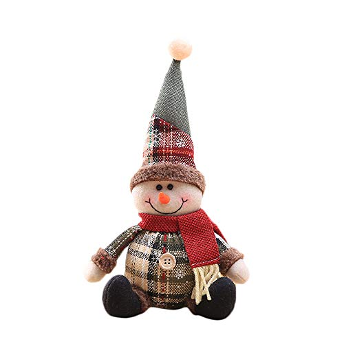 Christmas Decorations Sale,Colorful(TM) Merry Christmas Christmas Ornaments Gift Santa Claus Snowman Tree Toy Doll Hang Decorations (A)