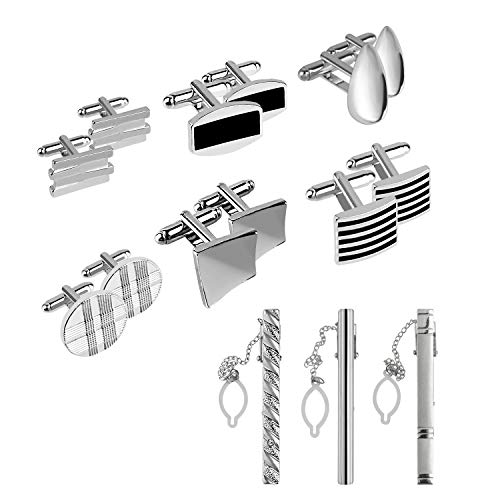 TUPARKA Cufflinks and Tie Clips ...