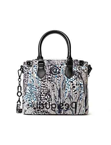 Desigual Accessories Fabric Hand Bag, Mano Mujer, blanco, U