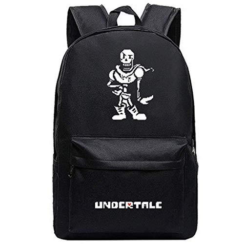 Detazhi Canvas Printing Men Backpack Game Undertale Travel Bag Sans Papyrus Unisex Student Laptop School Shoulder Bag (1) (Color : 8)