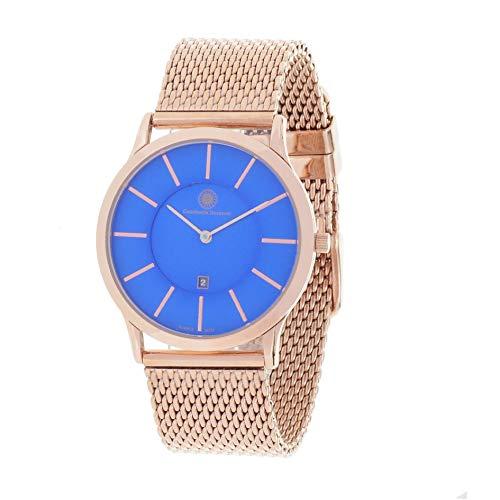 Constantin Durmont Unisex Erwachsene Analog Quarz Uhr mit Vergoldet Armband Planar 2 130590