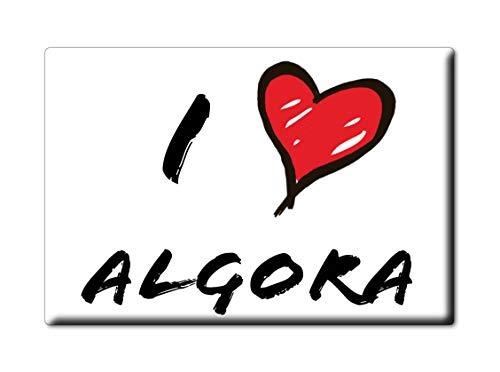 Enjoymagnets ALGORA Souvenir IMANES DE Nevera Reino Unido Castilla LA Mancha IMAN Fridge Magnet Corazon I Love (VAR. Informal)