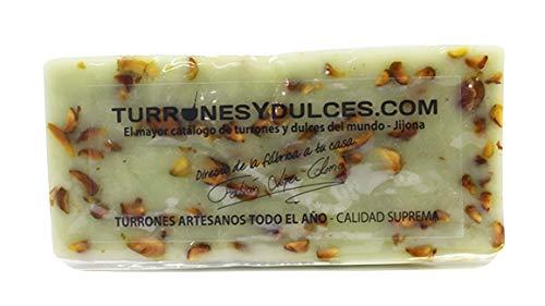 Turrón de Pistacho 300 gramos, dulce típico de Jijona