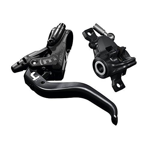 Magura MT4, 2-Finger Aluminium-Leichtbau-Hebel, Links/rechts verwendbar, 2.200 mm Leitungslänge, Einzelbremse, inkl. Zubehör (VE = 1 Stück) Fahrradbremse, schwarz, One Size