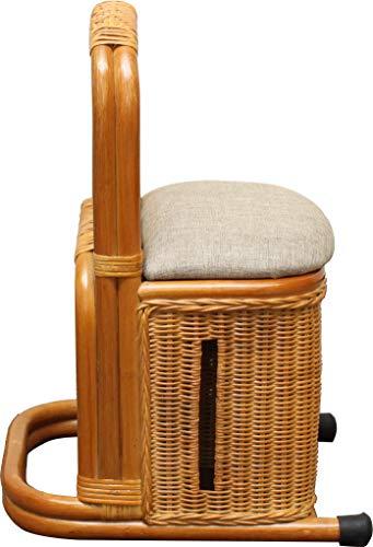立ち上がり補助器具 つかまり立ちステッキ 収納付き ナチュラル 籐 ラタン 肘置き 立ち上がり 補助 スタンド 軽量 室内 杖