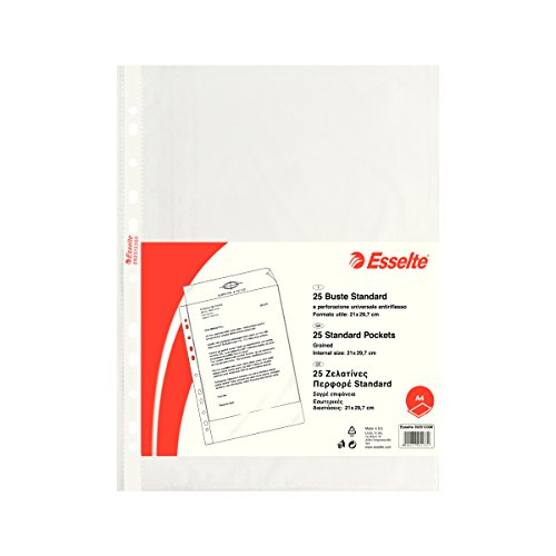 ESSELTE Buste perforate STANDARD - PPL antiriflesso - f.to A4 - 392513300