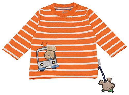Sigikid Baby-Jungen Langarmshirt, Orange (Jaffa Orange 847), (Herstellergröße: 62)