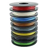Litzen-Sortiment, 0,50 mm², 8x 10 m Schaltlitzen auf Kunststoffspulen, 8 Farben