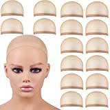 30 Pieces Wig Caps, Light Brown Wig Caps for Women/Lace Front Wig Stocking Caps for Wigs Nude Wig Cap