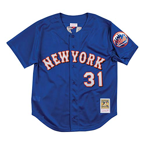 Mitchell & Ness New York Mets Mike Piazza 1999 Blue Authentic BP Jersey (Medium)
