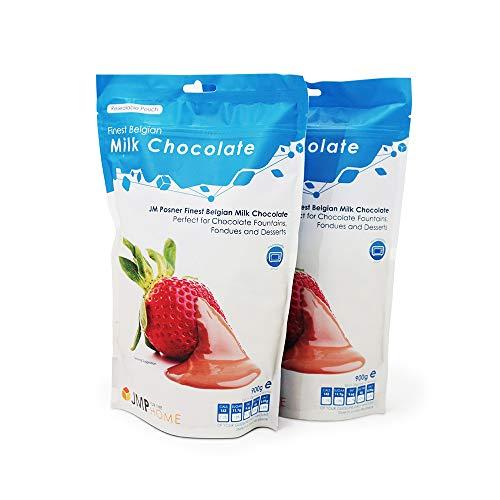 2 x La mejor bolsa de chocolate con leche belga de 900 g - Adecuada para una fuente de chocolate o postres y pasteles - Chocolates