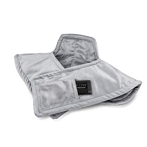 Medisana HP 626 Akku-Wärmecape elektrisch, Wärmekissen für Schulter und Nacken, Wärmeponcho mit 4 Temperaturstufen, Überhitzungsschutz, Abschaltautomatik, waschbar