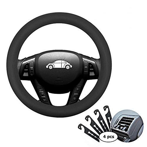 Direct - Funda de silicona para volante de coche de 33 a 38 cm, con 4 ganchos de ventilación