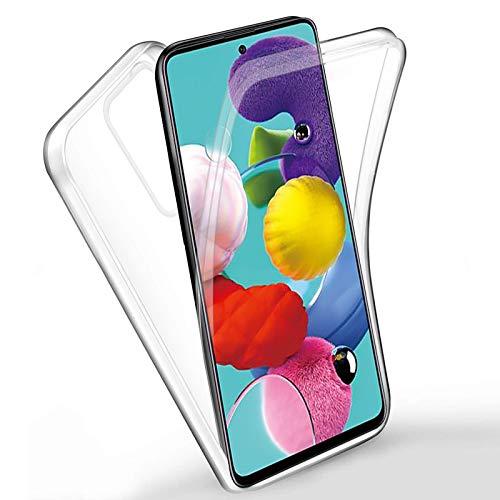 Funda para Xiaomi Redmi Go Silicona,Carcasas[Carcasa Protectora 360 Grados Full Body] Transparente Suave Ultrafina Gel Silicona TPU+PC Anti-Choque Anti-Arañazos Protectora Case