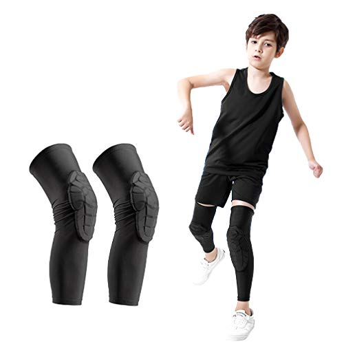 Luwint Children Volleyball Knee Pads - Boys & Girls Compression Armour Protective Knee Brace Support for Running Football Basketball Baseball Bowling Tennis Hockey Sports, 1 Pair (Small)