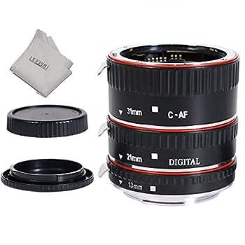 INSEESI Lens Extender Auto Focus Close up Macro Extension Tube for Canon EOS Cameras Rebel t6 t6i 80d t7i 5d Mark iv,6d Mark ii