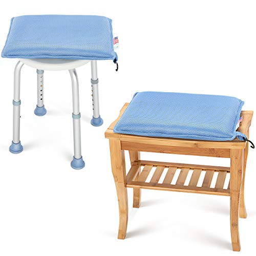 OasisSpace Cushion for Shower Chair,Seat Cushion for Shower Bench, Transfer Benches, Shower Chairs and Kneeling Pads,Bath Seat Cushion for Elderly, Senior, Handicap & Disabled