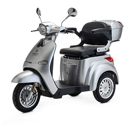 VELECO Scooter elettrico a 3 ruote per la mobilità 1000W Cristal Cristal 3 colori (Argento)