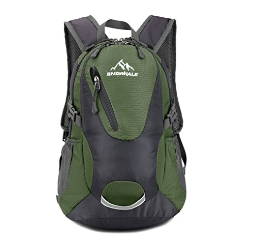 SNOWHALE Cycling Hiking Backpack Water-Resistant Daypack FKC0618 (Army Green)
