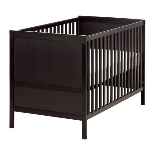 Ikea Sundvik Crib, Black-brown
