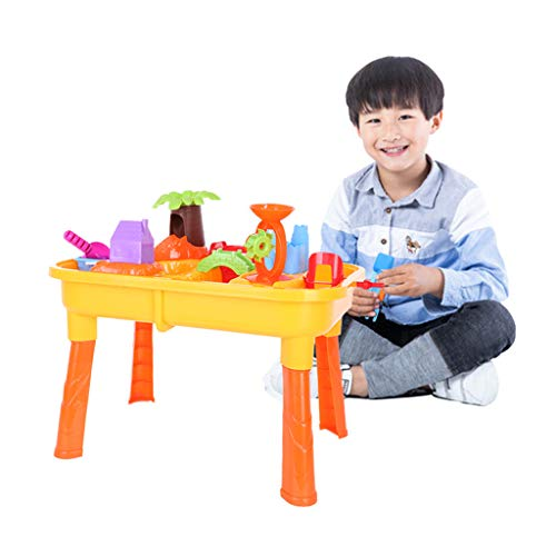 Gbell Beach Toys for Kids 3-10 Party Favors, Sand Toys Set Water Table Play Sand Tool Large Baby Play Water Digging Sandglass Play Sand Tool Best Sand Digger Toy (Multicolored/Ship from US)