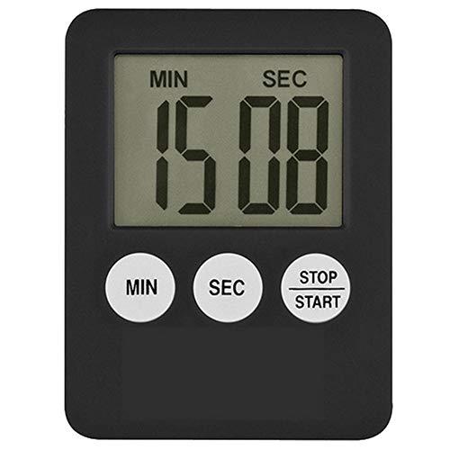 MoGist - Temporizador de cocina digital con cronómetro y pantalla LCD, Negro , 7*5.3*0.9cm