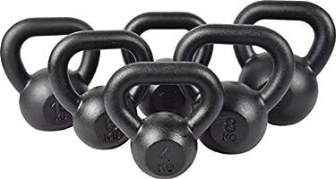 Gietijzeren Kettlebell Zwaar Gewicht voor Kracht- en Cardiotraining Halter KAWMET 4kg, 6kg, 8kg, 10kg, 12kg, 16kg, 20kg,...