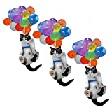 EVAGNEE Cat Car Hanging Ornament, 2D Cat and Balloon Car Hanging Ornament, Car Pendant Creative Cute Cat Car Interior Best Gift for Cat Lovers (3PCS)