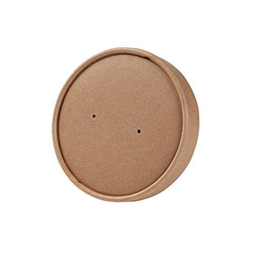 BIOZOYG Tapa desechable orgánica para Tazas 200ml, 300ml I Tapa desechable compostables con Revestimiento Interior de PLA y Agujeros para Vapor I 25 Tapas Biodegradable de cartón marrón para Taza
