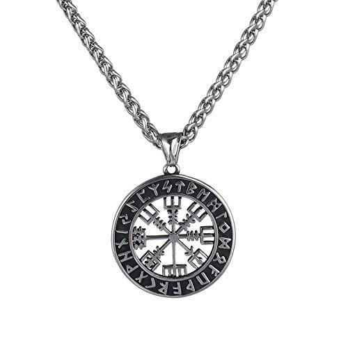 Collar nórdico, mito, collar vikingo, señal de tráfico de brújula, collar colgante de Odin Rune, religión