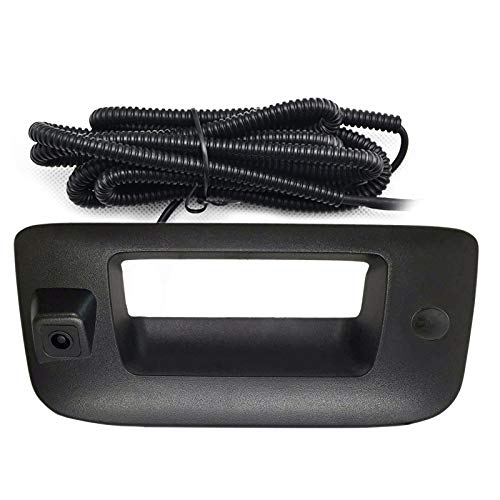 Chevy GMC Back Up Camera with Key Hole Cover Rear View Camera with Tailgate Handle for Chevy Silverado and GMC Sierra Years 2007-2013,Tailgate Handle Replacement Camera.