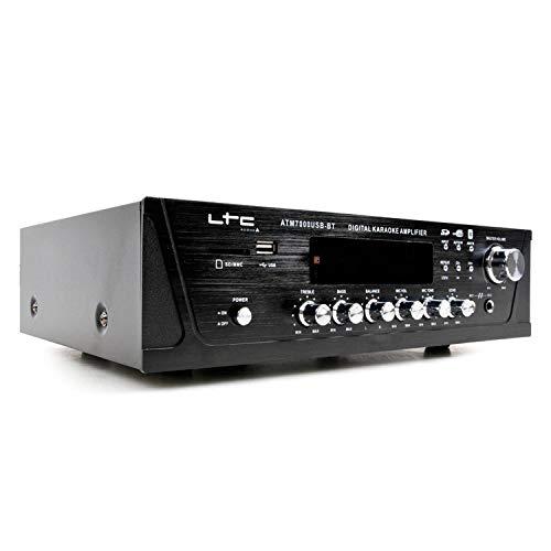 LTC 100W stereo versterker digitale tuner USB/SD/MMC/BT/karaoke