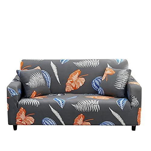 Funda de sofá geométrica Moderna, Envoltura Ajustada, Funda de sofá elástica a Rayas con Todo Incluido, Funda Protectora para Muebles, Cubierta A5 de 4 plazas