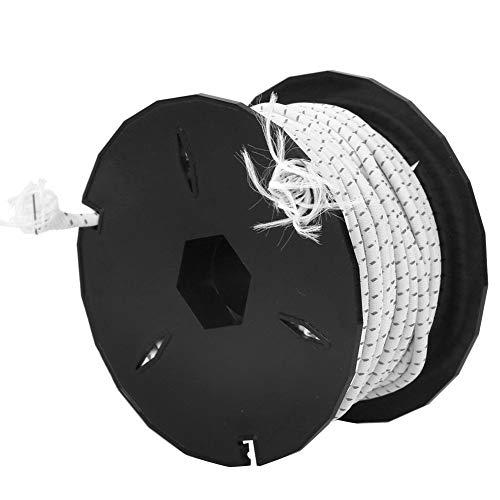 Qinlorgon Reflektierendes Starkes Lanyard-Seil, hochelastisches Zeltseil Verschleißfestes elastisches Latex-Zeltseil, Rettungsleine für die(White + Black Spot (Non-Reflective))